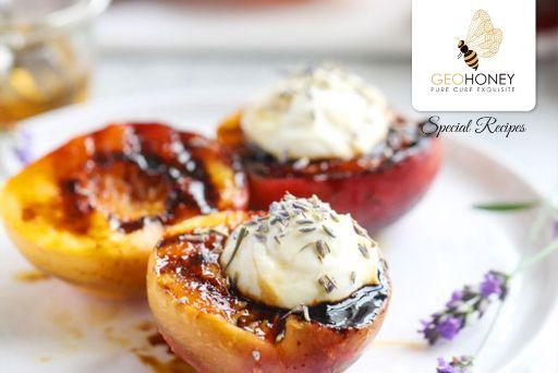 honey-peach-lavender-dessert