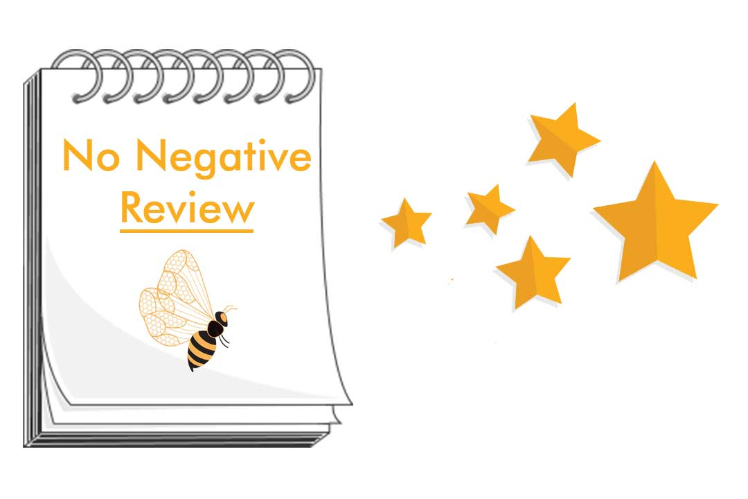 No negative Review Banner