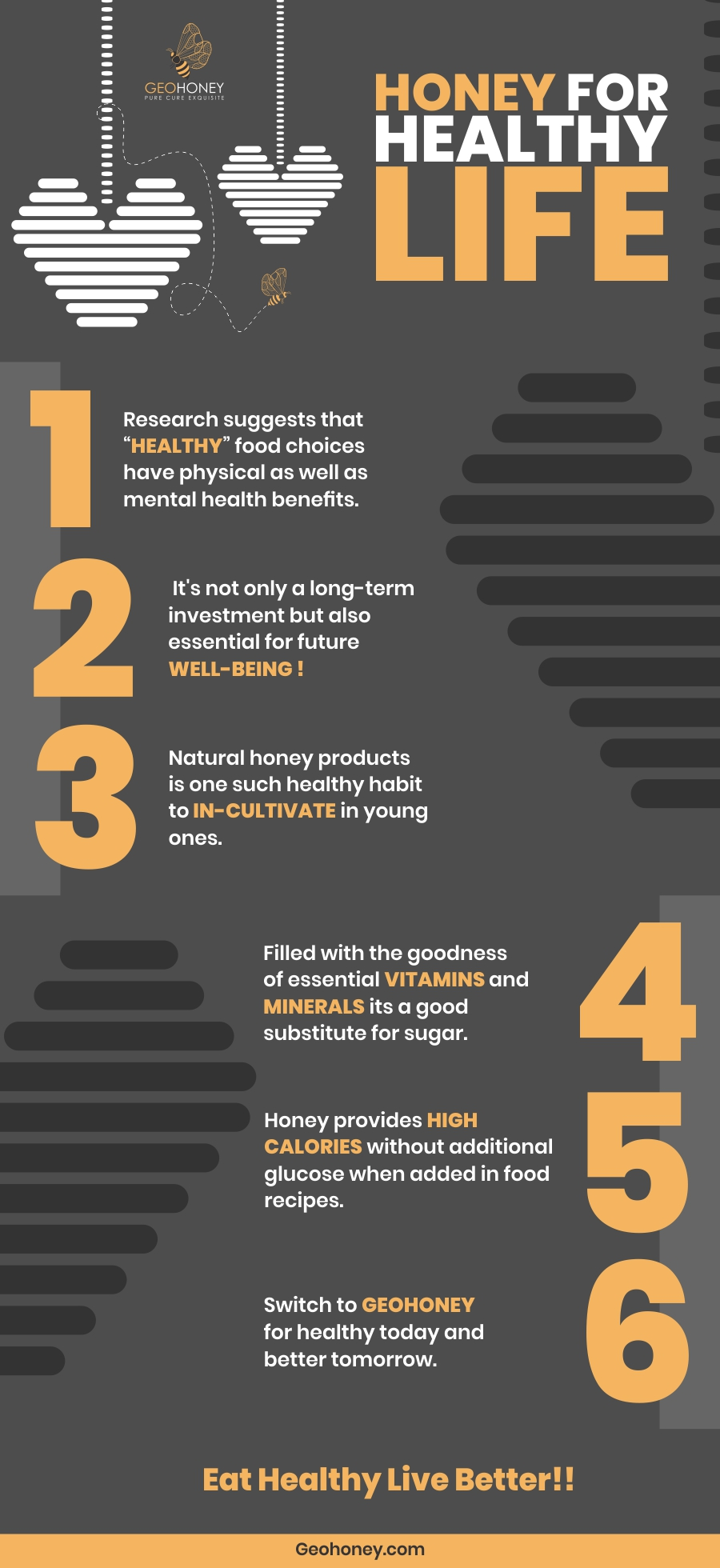 Honey for life Infographic