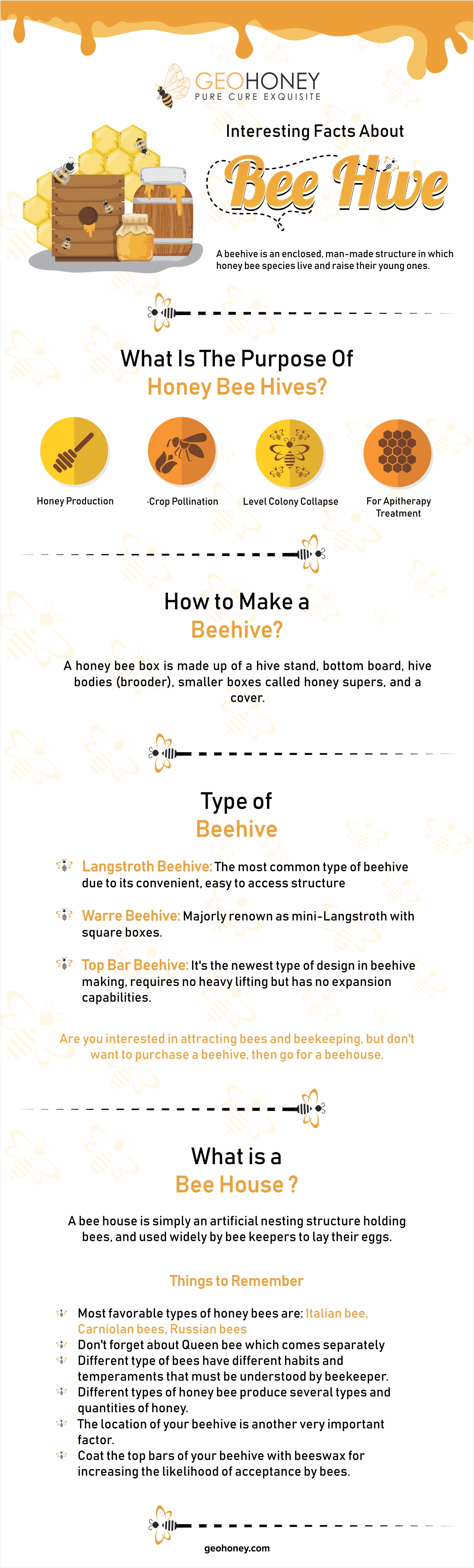 Facts about Bee hive - Geohoney