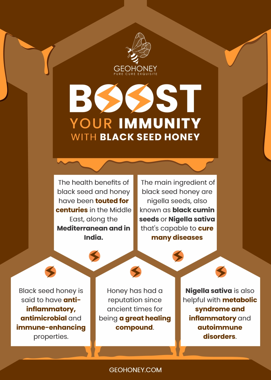 Black seed honey infographic